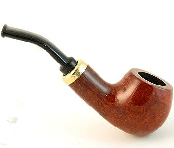 Mr  Brog Bent Bulldog Tobacco Pipe - Model No: 132 Rubel Pecan -  Mediterranean Briar Wood - Hand Made