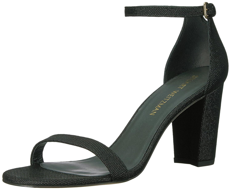 Stuart Weitzman Women's Nearlynude Heeled Sandal B06XPSY2JS 8 B(M) US|Black/Black