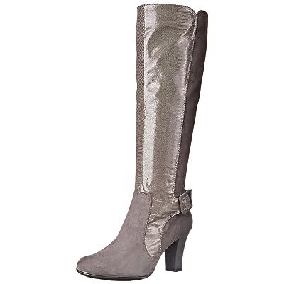 A2 by Aerosoles Women's Money Role Western Boot, Grey Lizard, 5 M US | Knee-High