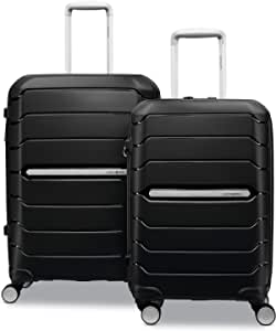 Samsonite Freeform Hardside Expandable with Double Spinner Wheels, 2-Piece Set (21/28), Black