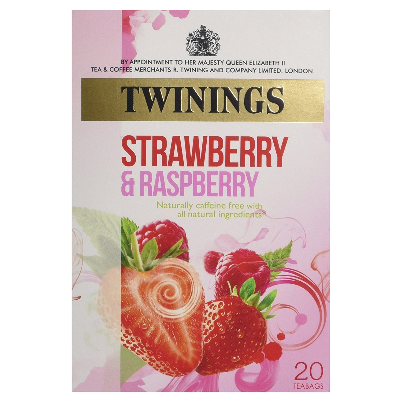 Twinings Strawberry & Raspberry Tea Bags, 40 g