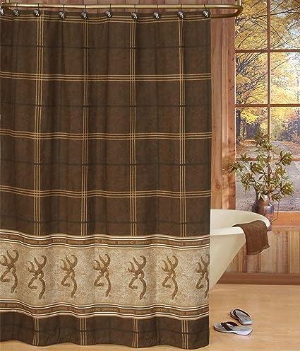 Amazon Buckmark Cotton Shower Curtain Home Kitchen
