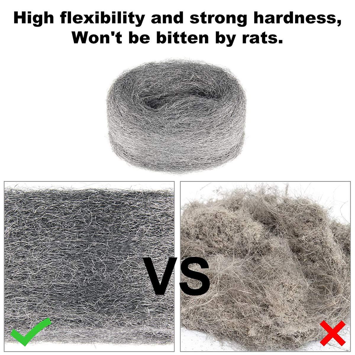 Hardware Cloth 2-Pack x 10FT House//Pipelinehole Gap Blocker DIY Kit Steel Wool for Mouse Blocker EACFVE Steel Wool Fabric 0000