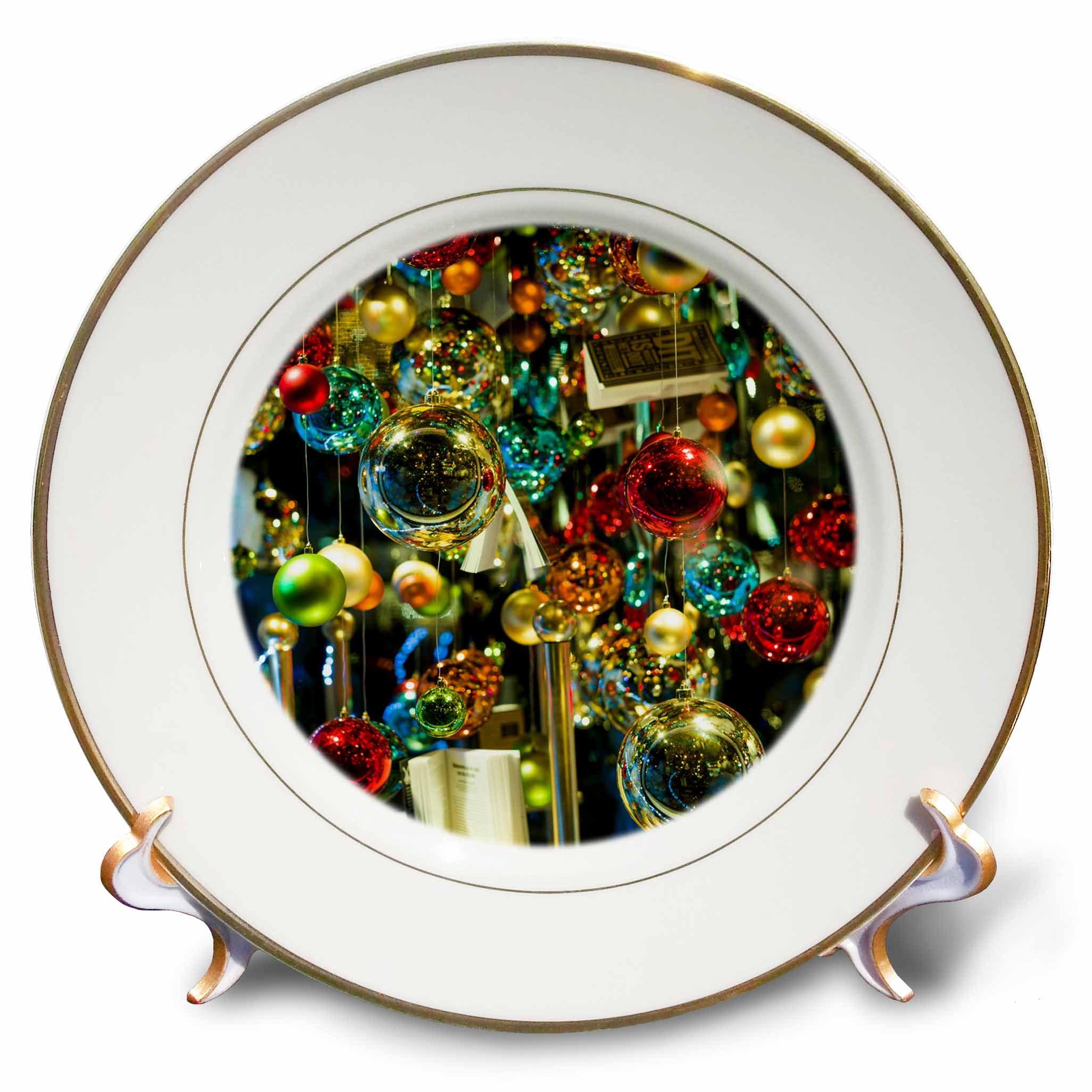 3dRose Danita Delimont - Holidays - Netherlands, Amsterdam. Christmas decoration in bookshop window - 8 inch Porcelain Plate (cp_277776_1)