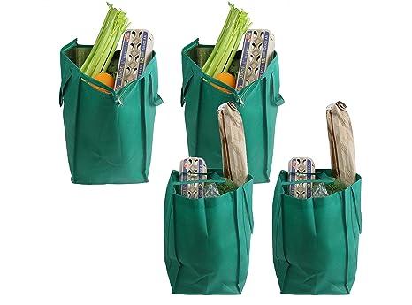 Paquete de 4 bolsas Cherlex de supermercado grandes y ...