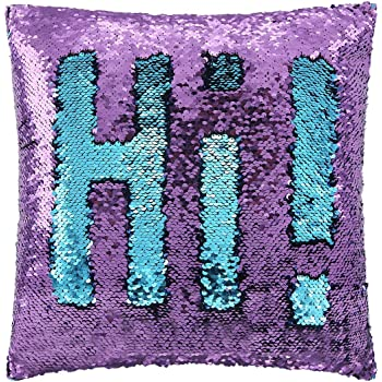 Play Tailor Mermaid Throw Pillow With Insert Reversible Sequins