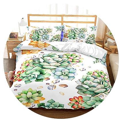 Amazon Com 3d Bedding Set Tropical Plants Print Duvet Cover Set