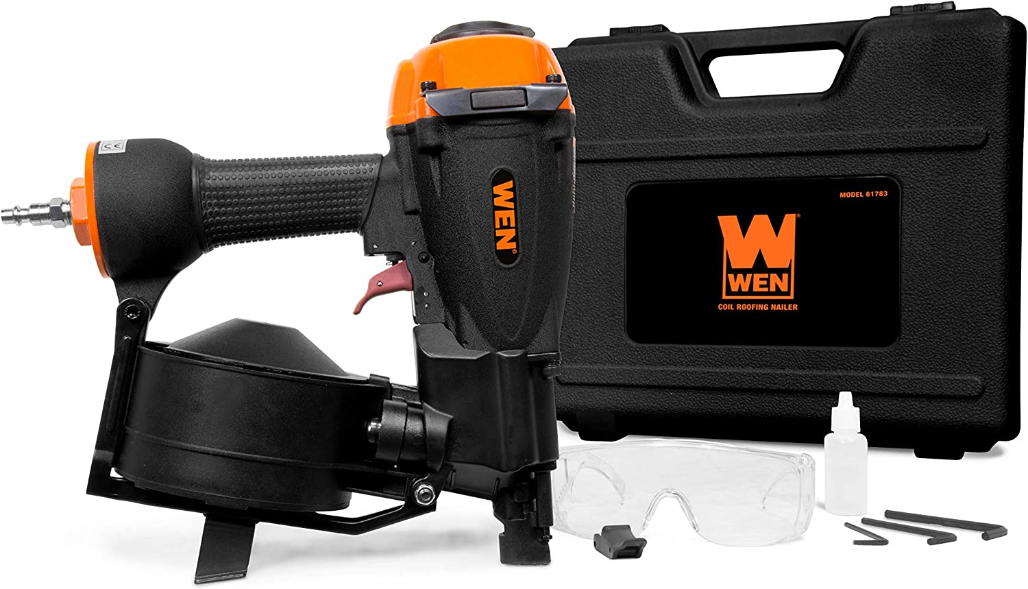 WEN 61783 3 4-Inch to 1-3 4-Inch Pneumatic Coil Roofing Nailer