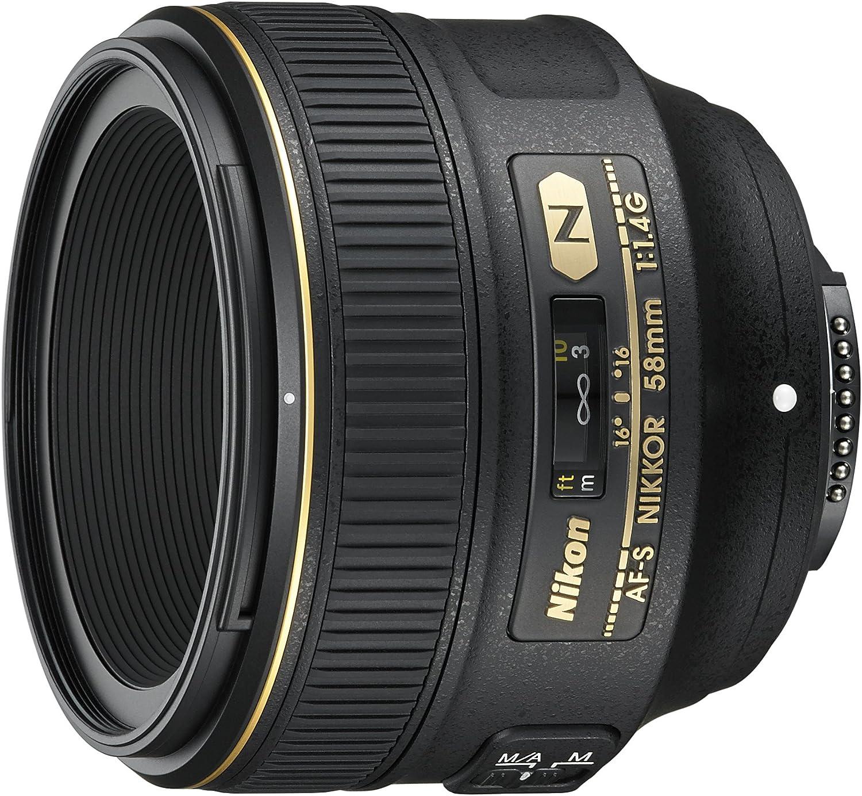 Nikon Nikkor AF-S 58mm f/1.4G - Objetivo para cámara réflex para ...