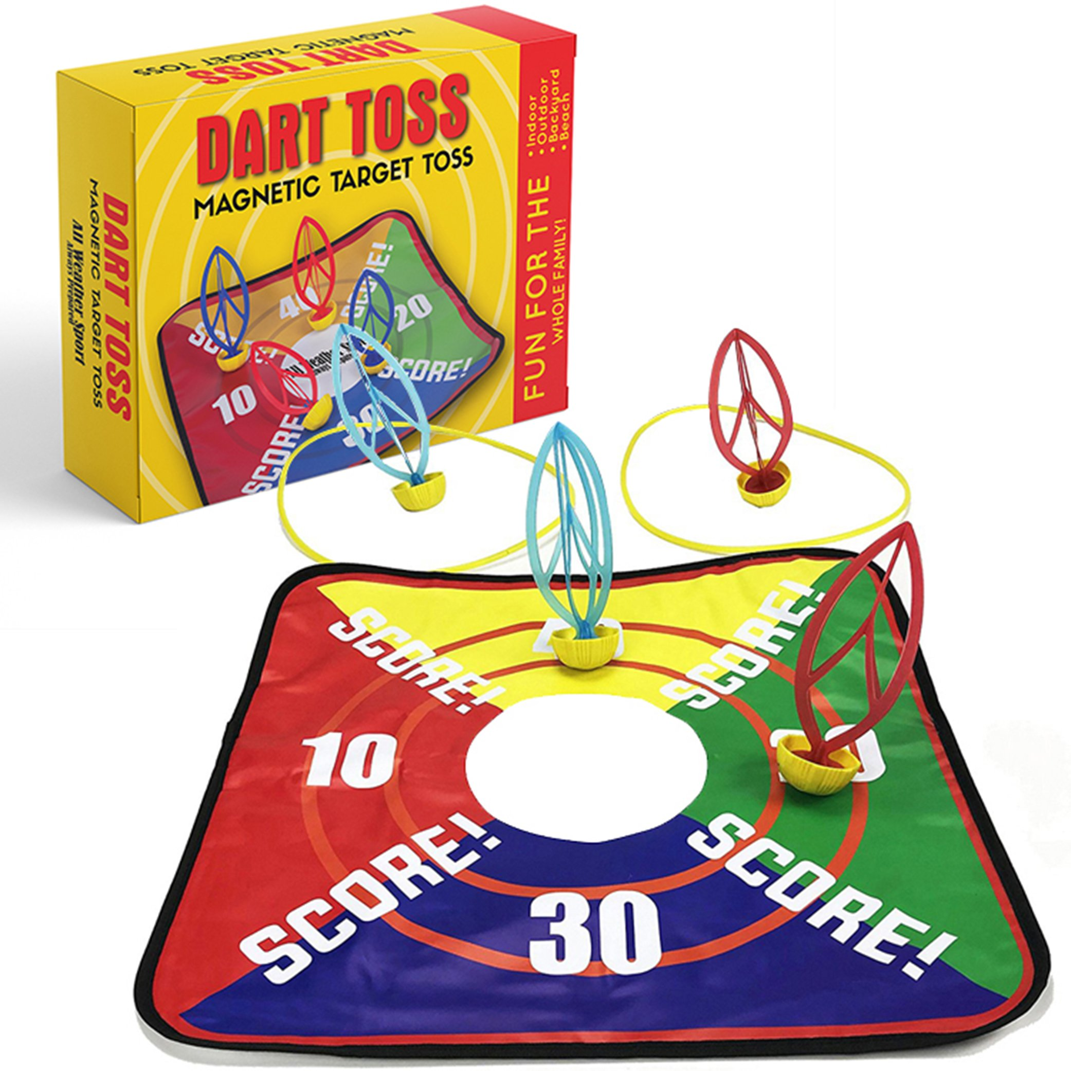 Lawn Darts | Dart Toss | Magnetic Target Toss | Garden, Lawn, Yard, Beach, Outdoor, Indoor & Backyard Games | This Toy is Perfect for all Ages | Fun for the Whole Family | Outdoor Tossing Game | Toys