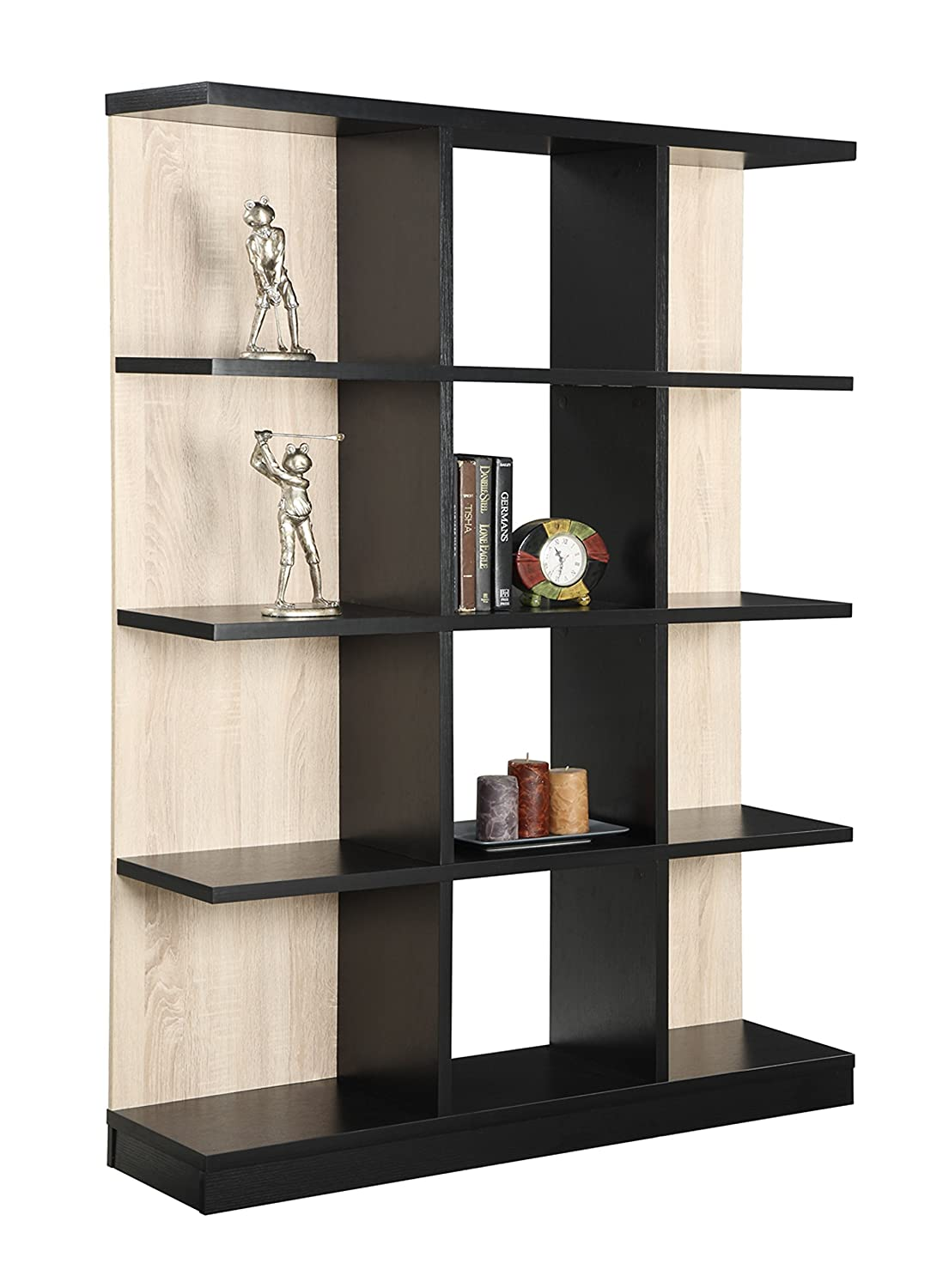4 Tier Bookcase Shelf Storage Bookshelf Wood Shelving Book