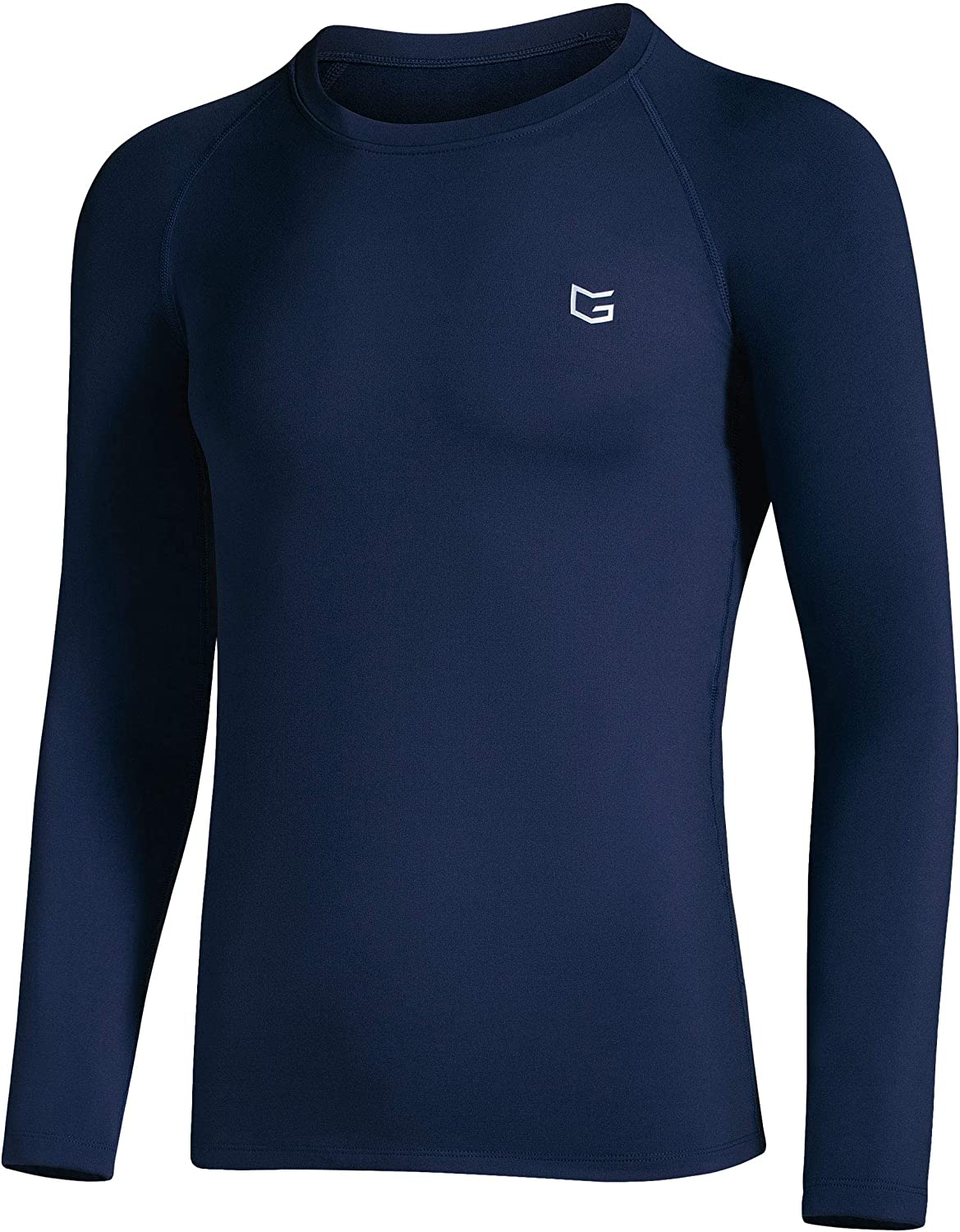 Boys' Compression Shirt Youth Fleece Thermal Long Sleeve Cold Gear Undershirts for Boys: Clothing