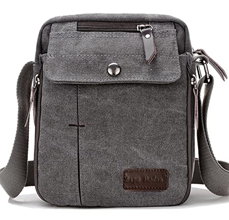 245b04362c9 SUPA MODERN Men Small Vintage Canvas Messenger Bag Cross Body Bag Pack  Organizer Satchel Bag Durable Multi-Pocket Sling Shoulder Bag  Amazon.ca   Luggage   ...