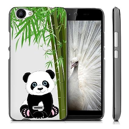 Funda Wiko Rainbow Jam 3G Panda comiendo bambú Mariposas ...