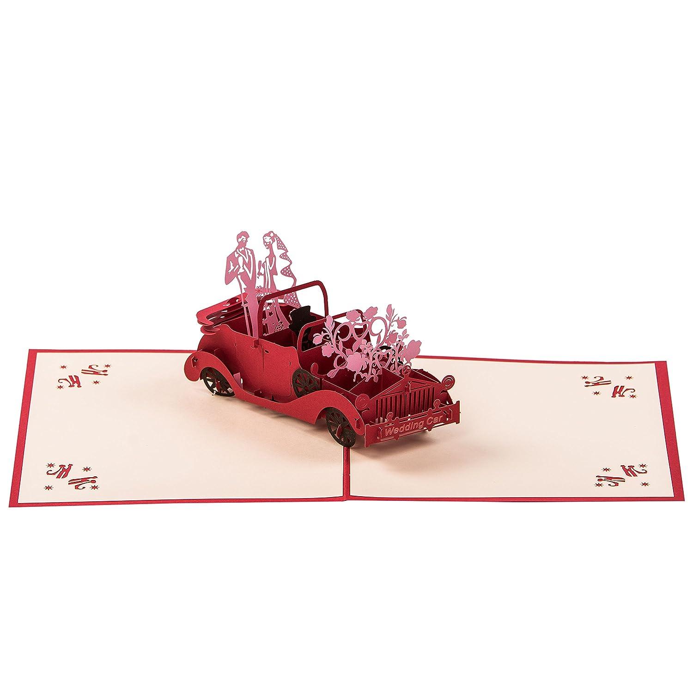 Pop Up Gru/ßkarteRosa Baum Hochwertige 3 dimensionale Geschenk Karte Filigrane Lasergeschnittene Papierschichten formen einen rosa Baum Original Premium Qualit/ät von SmartRegard