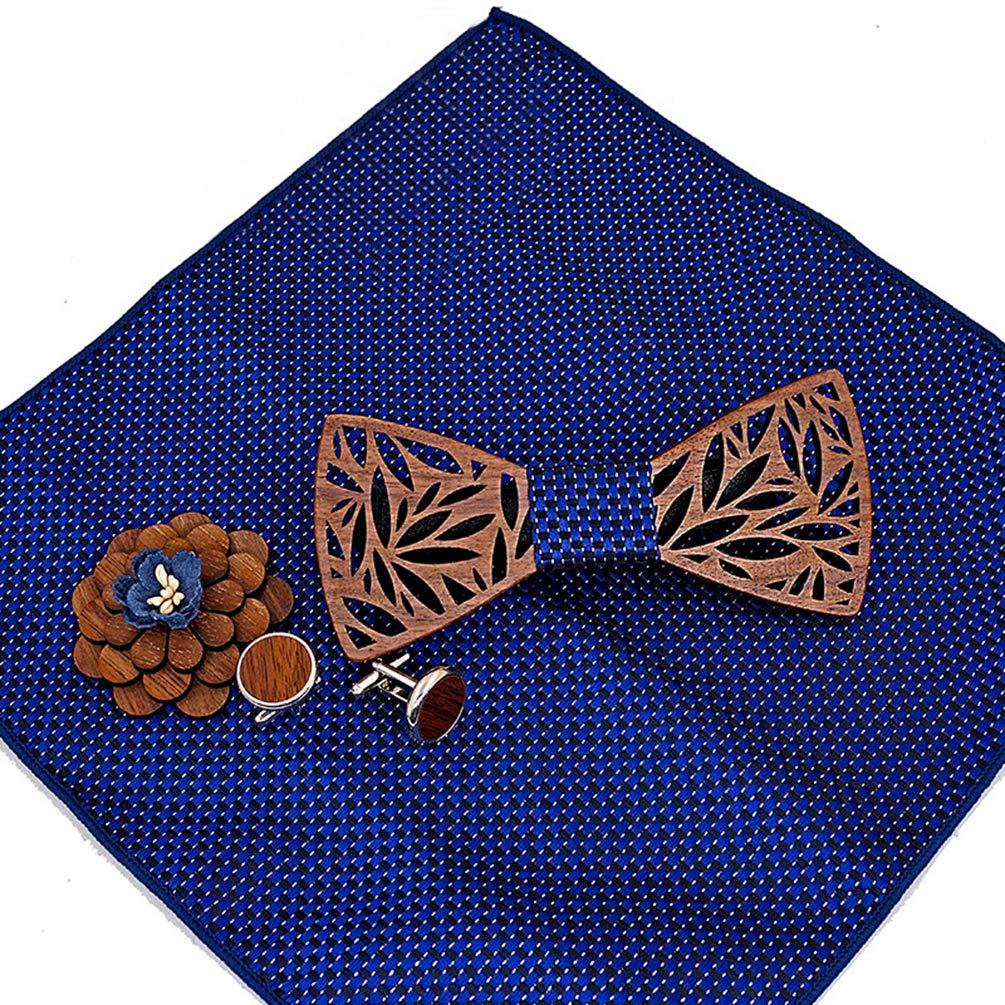 Lvguang Papillon Profilo in Legno da Uomo Design Unico Casual Accessori Creativo Arco Papillon