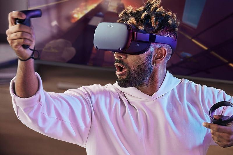 销量第三 Oculus Quest All-in-one VR虚拟现实一体机 游戏系统 64GB 7.5折$399 海淘转运到手¥2985