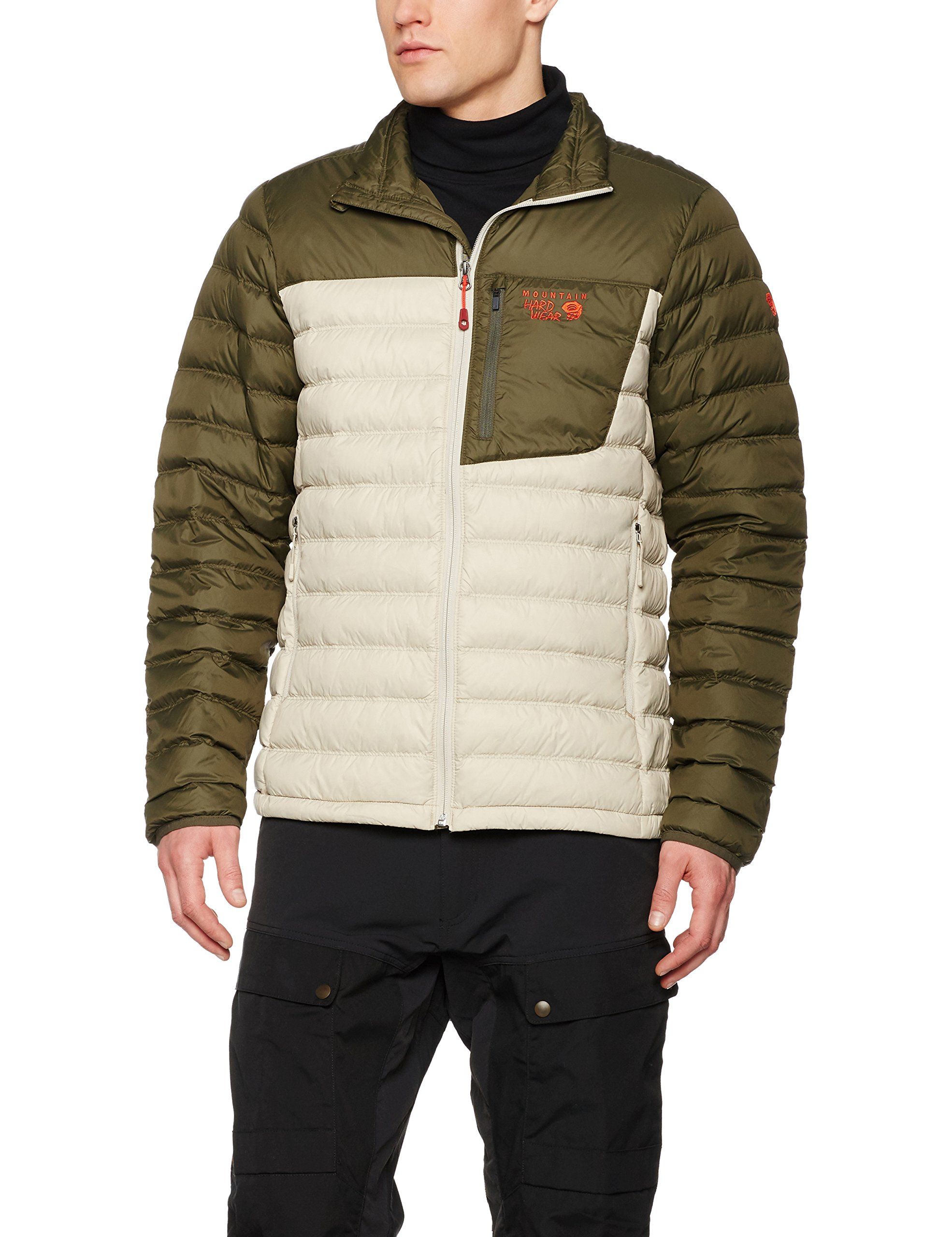 Mountain Hardwear Dynotherm Down Jacket - Mens Fossil / Peatmoss Small
