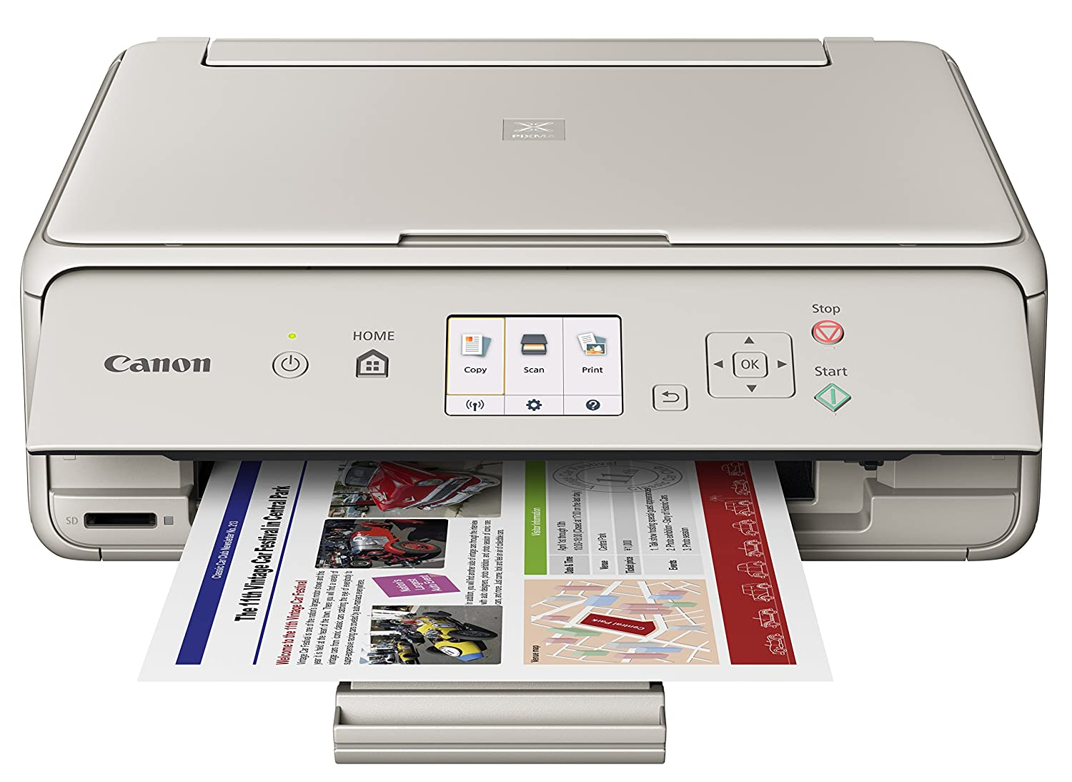 Canon Office Products PIXMA TS5020 WH Wireless color Photo Printer with Scanner & Copier, White Canon USA Inc.
