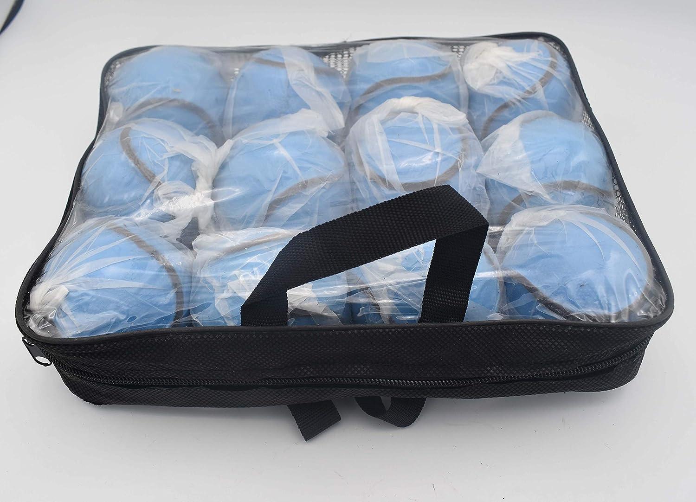 12 Balls//1 Dozen Breezy Hampton Hurling All Weather Wall Ball Sliotars Blue Color GAA Size 5 Sliothars