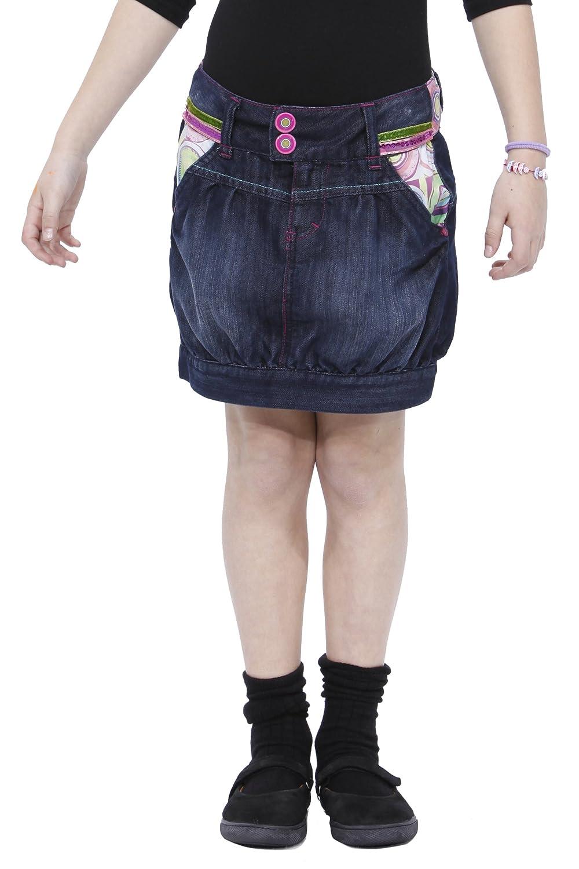 Desigual Jessica, Falda para Niñas, Vaquero (Jeans) 4 años (104 ...