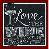 Thirstystone Set Love The Wine You're with Occasions Coaster, Multicolor