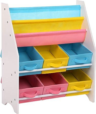 En el cuarto de los niños también se puede encontrar una estantería infantil adecuada - Esta estante