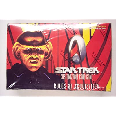 "1999 Star Trek ""Rules of Acquisition"" Card Game Booster Box (30 packs/box, 9 cards/pack): Toys & Games"