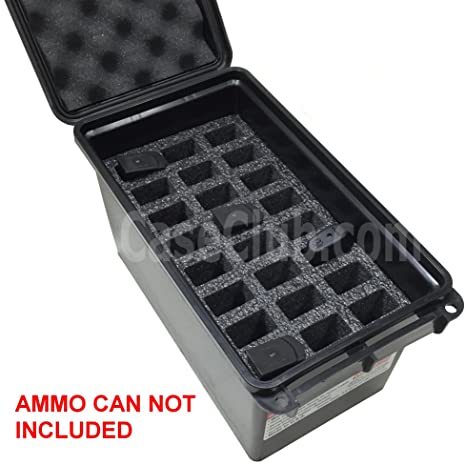 Case Club 24 Magazine Holder MTM 50 Cal Ammo Can Foam (Pre-Cut, Closed  Cell, Military Grade Foam)