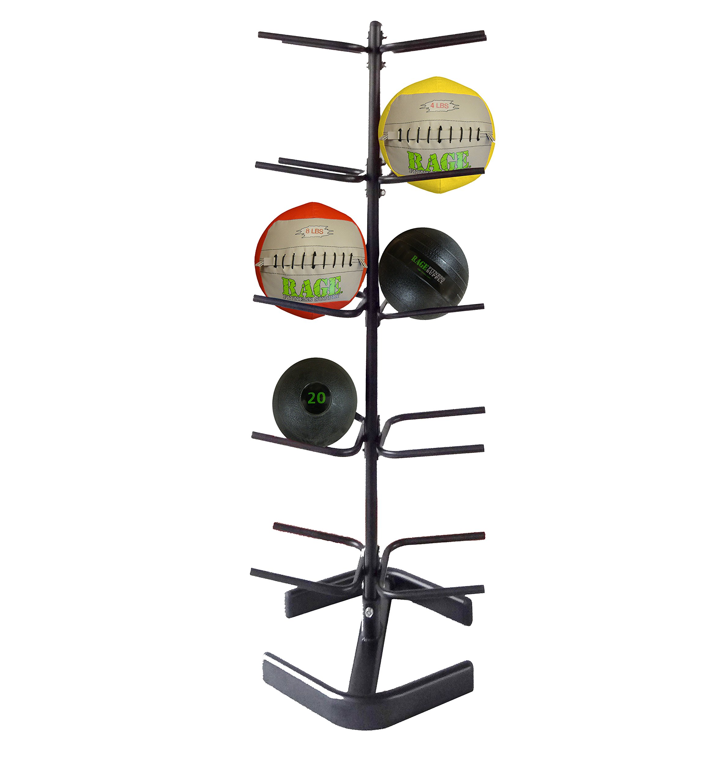 RAGE Fitness Medicine Ball Rack (5 Tier Medicine Ball Rack) by Rage Fitness