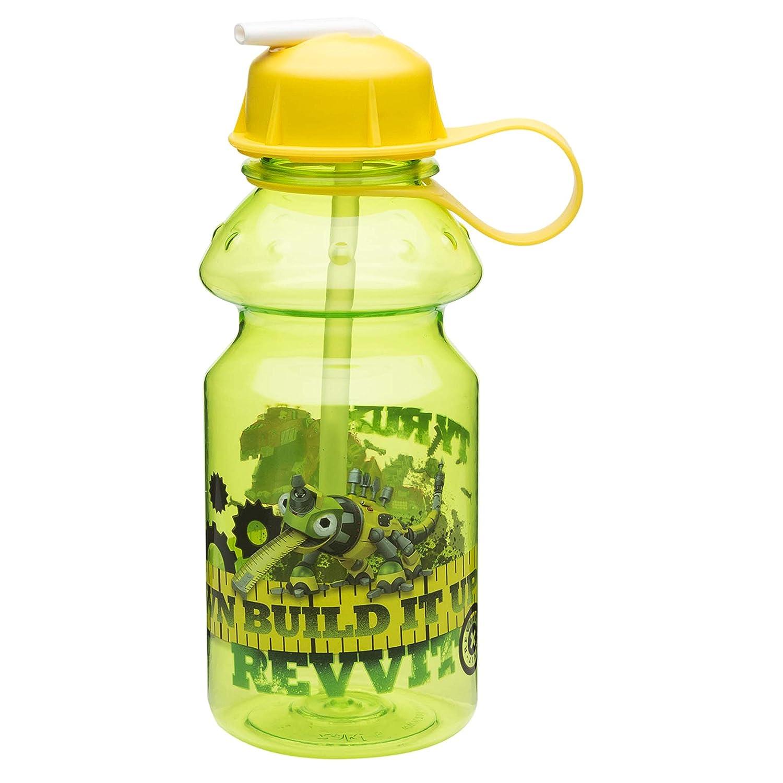 Reptool Revvit DINB-K870 Water Bottle with Flip Straw Zak Designs Dinotrux 14 oz