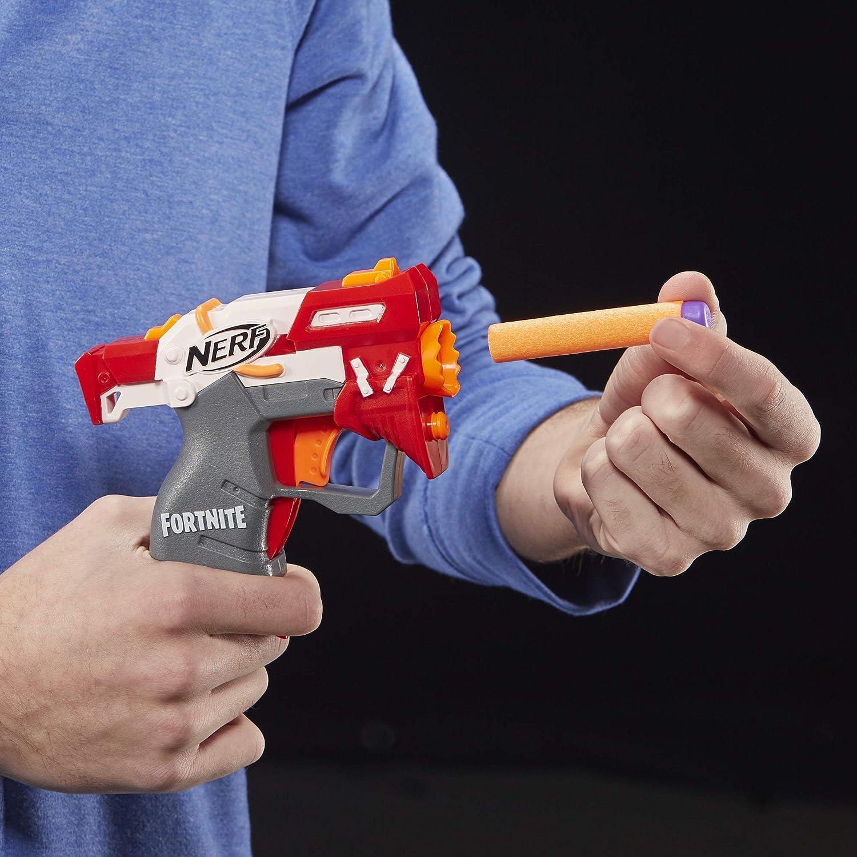 mehrere Hasbro Nerf E6745EL2 Fortnite TS MicroShots Feuerspiel und 2 offizielle Elite Darts