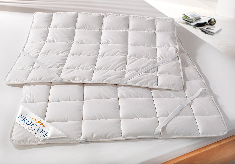 PROCAVE weiches Unterbett aus 100% Matratzen-Schoner, Baumwolle, atmungsaktiver Matratzen-Schoner, 100% hochwertige Matratzentopper, Matratzen-Auflage 200x190 cm 55f2ca