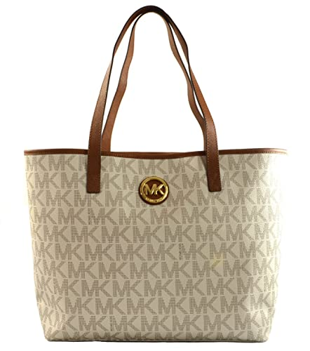 dc034853520f Michael Kors Jet Set Monogram Shoulder Tote Bag Vanilla RRP £260 ...