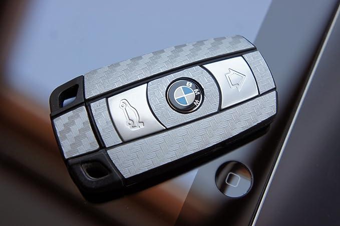 WIZUALS - Protector de carbono gris plateado para llave: Amazon.es: Coche y moto