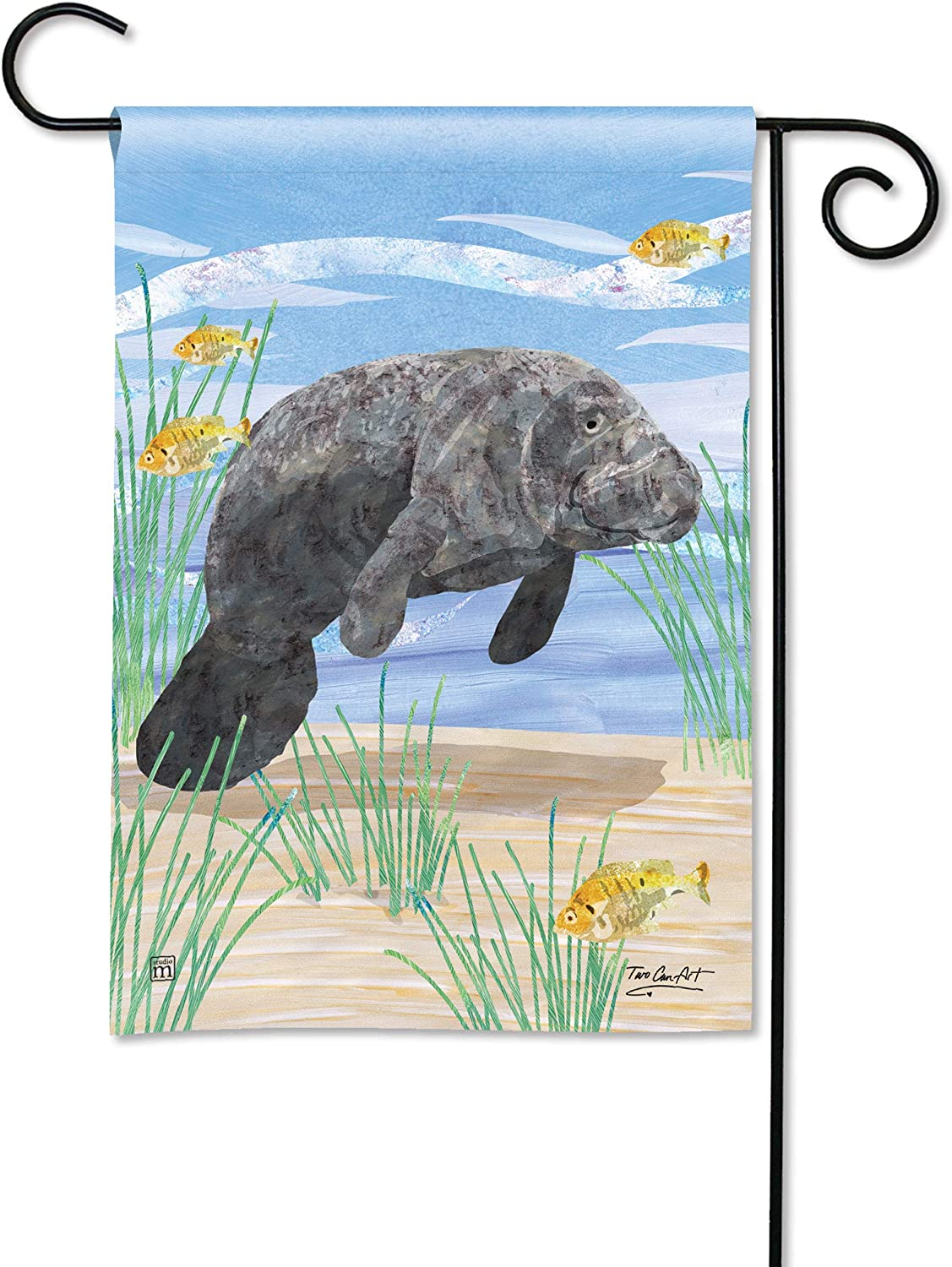 BreezeArt Studio M Manatee Decorative Garden Flag – Premium Quality, 12.5 x 18 Inches