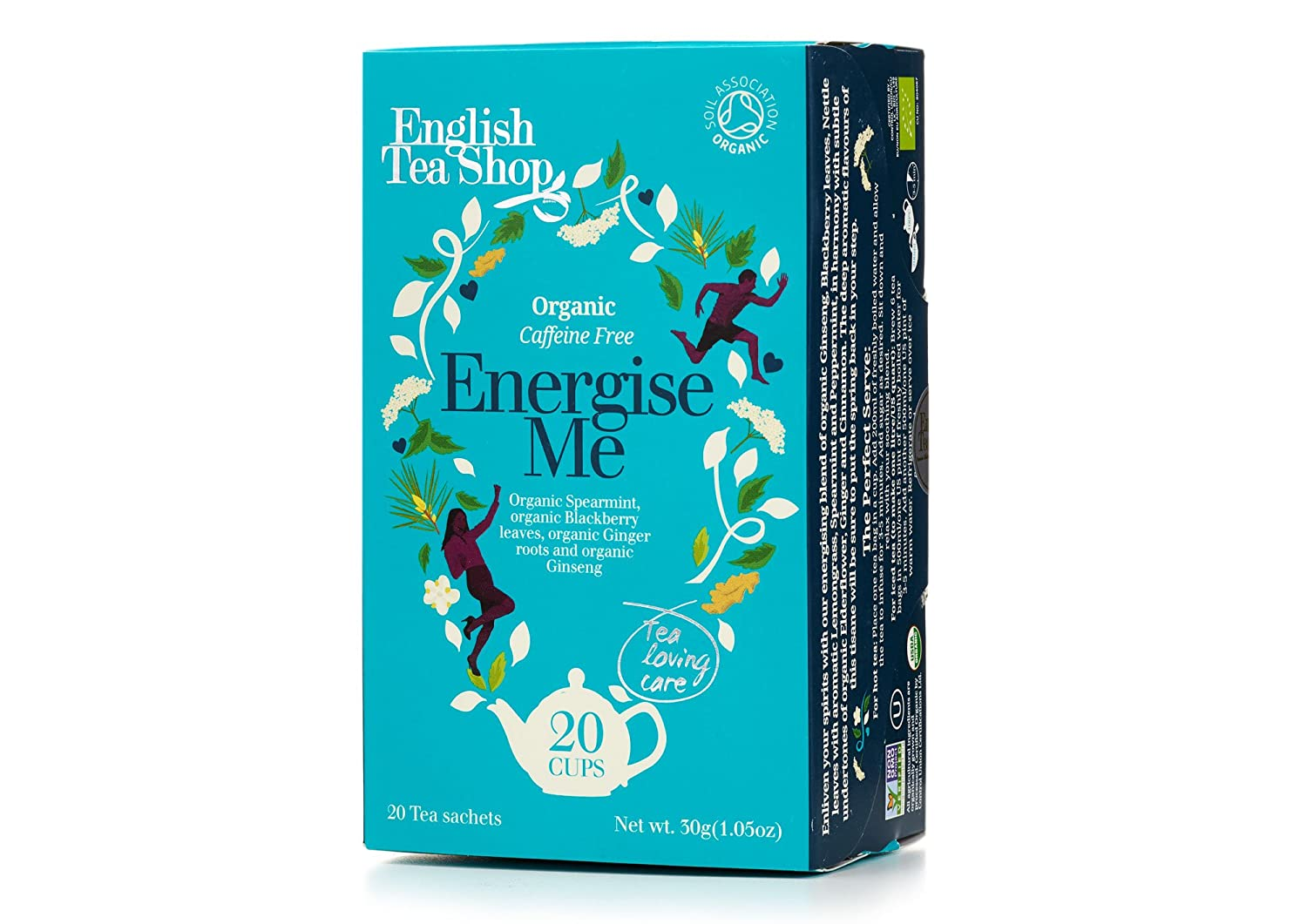 English Tea Shop Organic Energize Me - 20 Paper Tea bag sachets