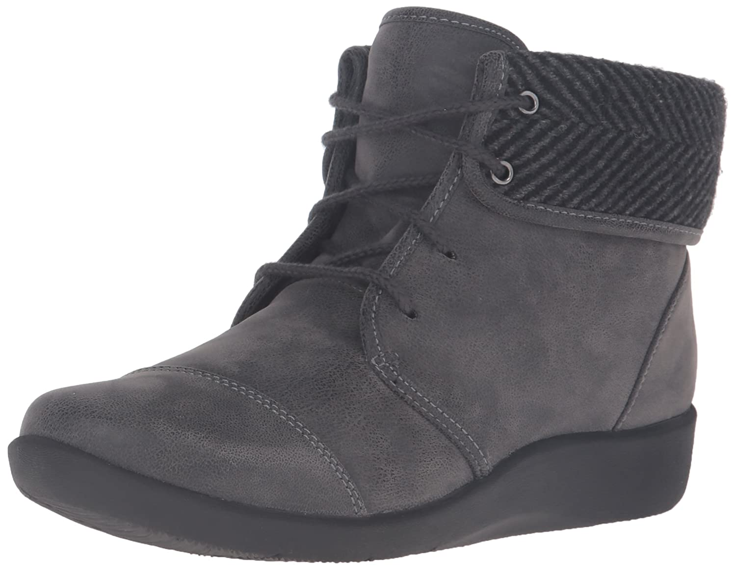 CLARKS Women's Sillian Frey Boot B01BLUIEBE 8 N US|Grey Synthetic Nubuck