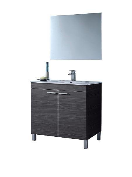 lc1 meuble salle de bain complète gris cendré