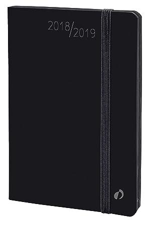 Quo Vadis 549008Q - Agenda escolar 2018-2019, horizontal, 16 meses, diseño Velvet, A6, 10 x 15 cm, color negro (Horizontal 15 Sd)