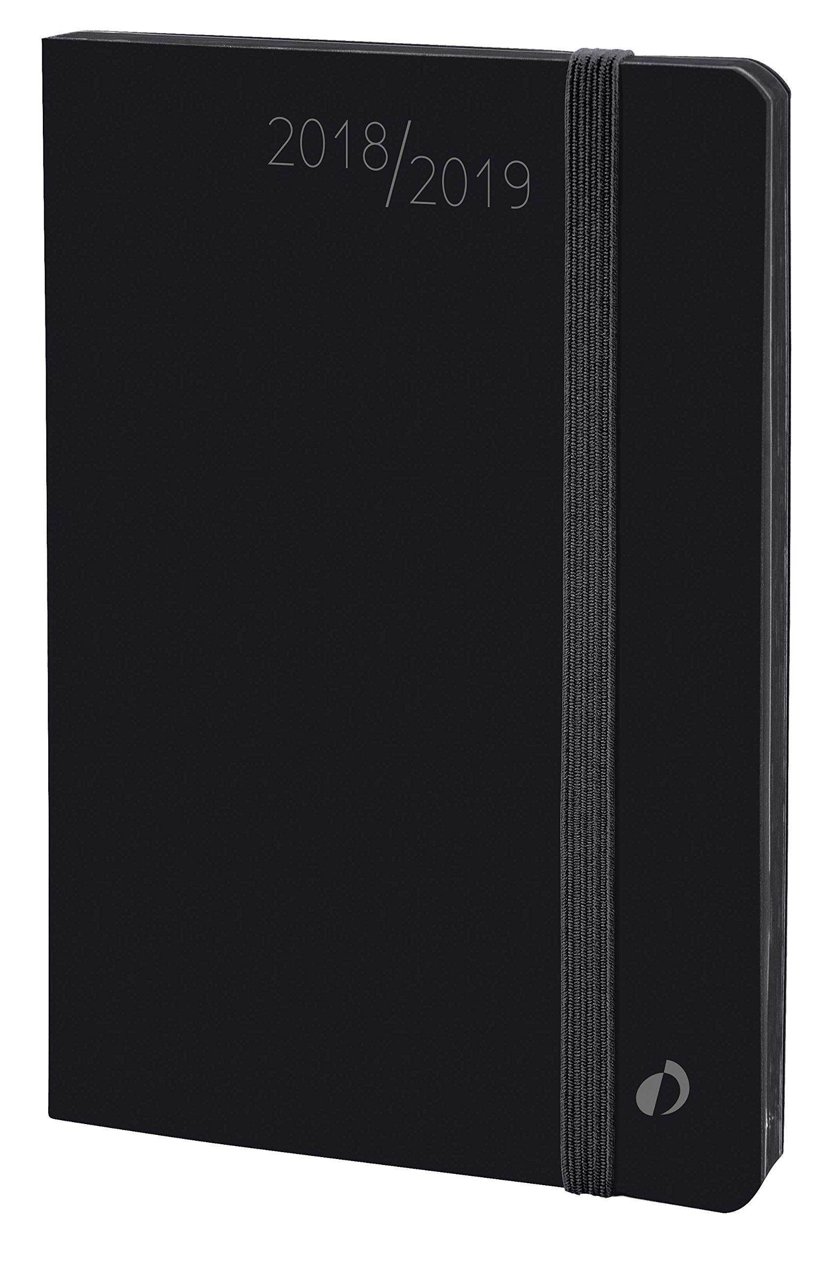 Quo Vadis Horizontal Velvet 15 SD September to December 549008q Academic Diary Year Diary with Elastic 10 x 15 cm 2017-2018 - Velvet Black by Quo Vadis (Image #1)