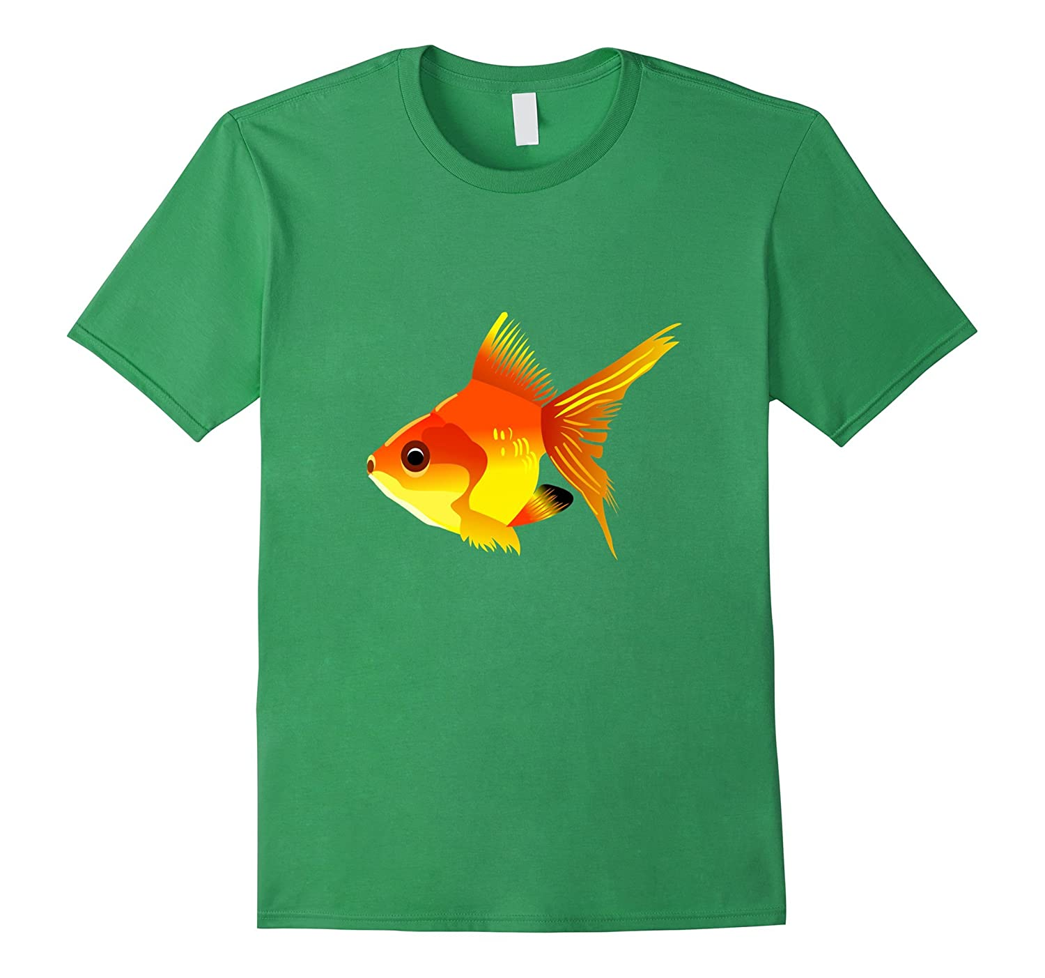 Goldfish Fish t-shirt Orange Aquarium Fishbowl Fishy-Vaci