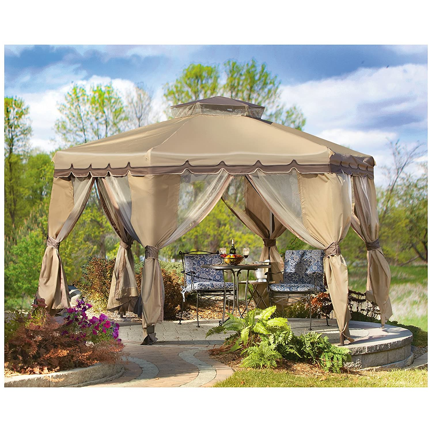 Amazon.com  CASTLECREEK Pop-Up Gazebo with Bug Netting 12u0027 x 12u0027  Garden u0026 Outdoor  sc 1 st  Amazon.com & Amazon.com : CASTLECREEK Pop-Up Gazebo with Bug Netting 12u0027 x 12 ...