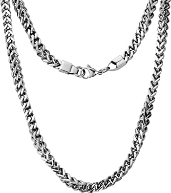 Silvadore 6mm 3d Chunky Mechanical Curb Necklace Chain Men S Silver Stainless Steel Jewellery 20 65g 60 Days Money Back Guarantee Silvadore Cardboard Box Amazon Co Uk Jewellery