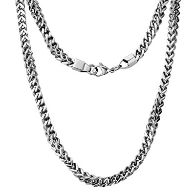 719e305a836 Silvadore - 6mm 3D CHUNKY MECHANICAL Curb Necklace Chain - Men's Silver  Stainless Steel Jewellery -