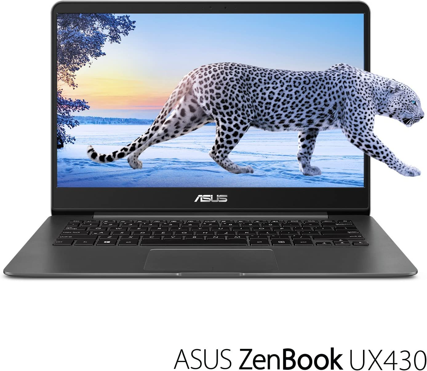 "ASUS ZenBook UX430UA-DH74 Ultra-Slim Laptop 14"" FHD wideview display 8th gen Intel Core i7 Processor, 16GB DDR3, 512GB SSD, Windows 10, Backlit keyboard, Quartz Grey (Renewed)"
