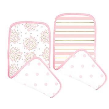 8 Pack Baby Cotton Square Muslin Burp Cloth Bib Comforter Nappy Wipe Small