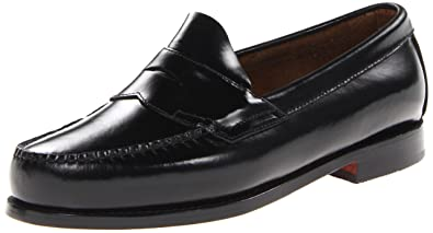 G.H. Bass & Co. Men's Logan Flat Panel Loafer,Black ...