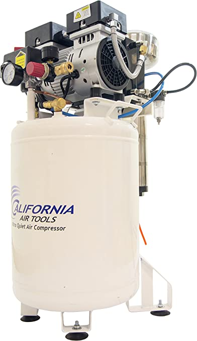 CALIFORNIA AIR TOOLS 60040DCAD Powerful 4.0 Hp Ultra Quiet /& Oil-Free Air Compressor with Air Drying System and Automatic Drain Valve