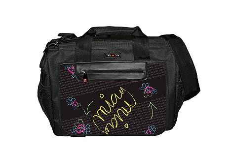 Black Bolso Magnum Tris /& Ton Organizador para coches de paseo para cochecitos para mam/á o pap/á con 12 bolsillos 6 interiores de gran capacidad f/ácil sujeci/ón con dos ganchos y cierre con cremallera